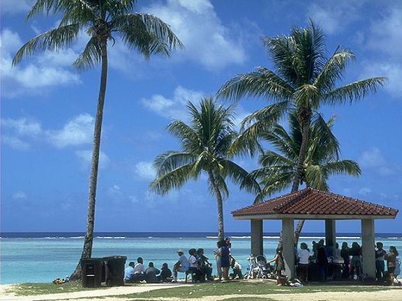 バリバリの浜辺