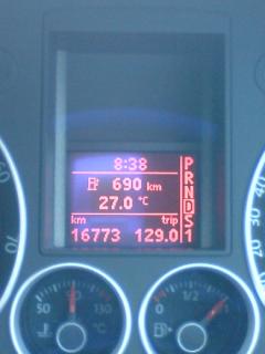 819km走行可能?