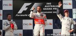 オーストラリアGP表彰台