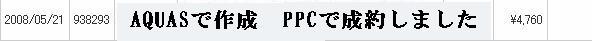 PPCによる売り上げです