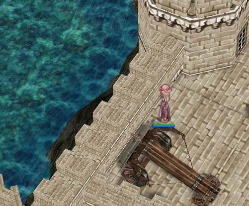 お城から海