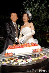 ルシェルブラン表参道 ケーキカット
