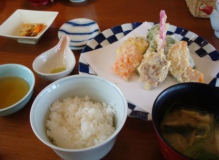 野菜天ぷらランチ