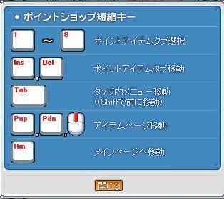 080328pショップ短縮キー