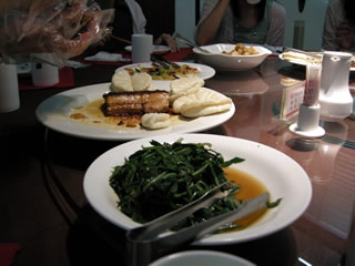 前菜と豚肉包み