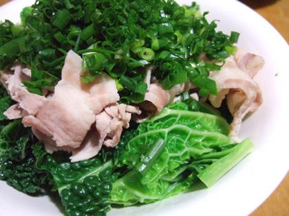 茹で豚と新野菜