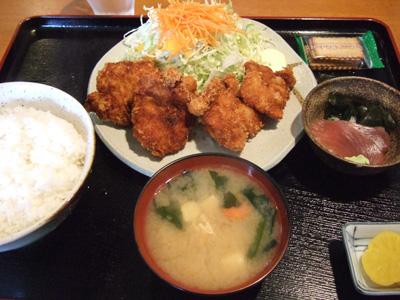 ホタテフライ定食イン北海道