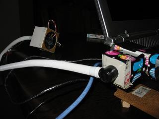 AT-650C のCPU冷却ファン + PIANICA のホースを使用