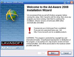 AdAwareインストール