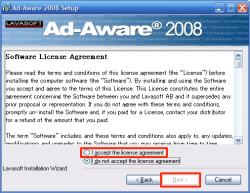 AdAware使用許諾