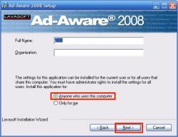 AdAware使用者選定