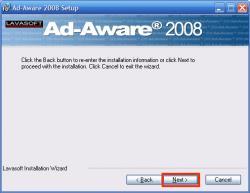 AdAwareインストール終了