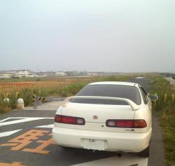 太田川放水路河口付近にて