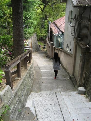 階段ばかりの町です
