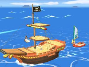 海賊船と赤獅子