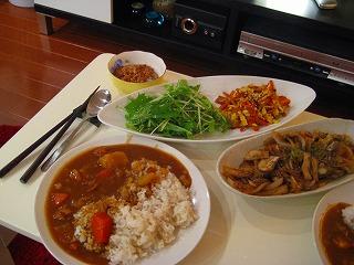カレー&残り野菜