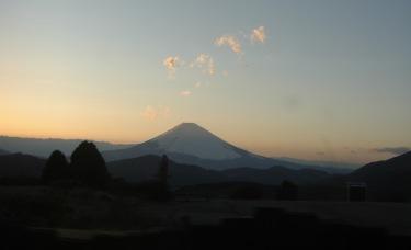 080401 夕方富士山