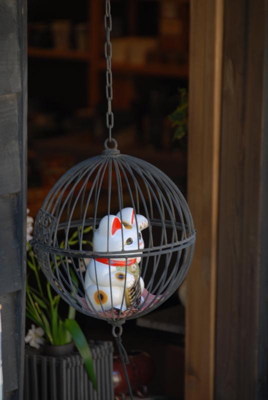 籠の中の招き猫
