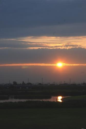 河原の夕暮れ