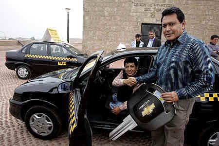 天然ガスのタクシー