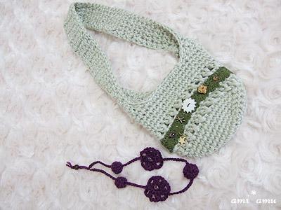 肩掛け編み鞄セット