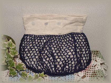 編み編みバッグ