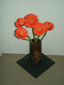 玄関のお花 オレンジ 縮小版