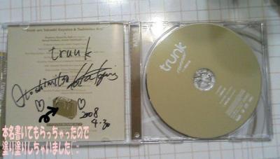 CDにサイン♪