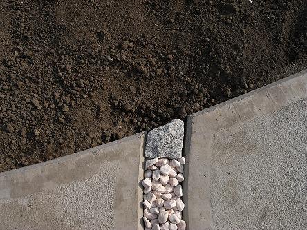 G様 外構工事 41 みかげ石を切ります!