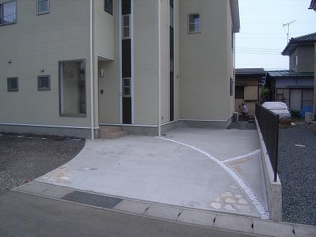 シンプルコンクリート舗装