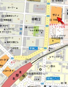 厚木サティ地図