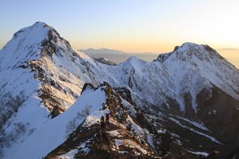 080315日の岳稜線