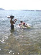 水中で特訓!!