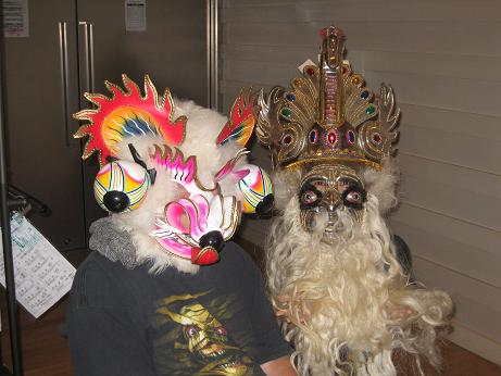 白クマとモレナーダの仮面