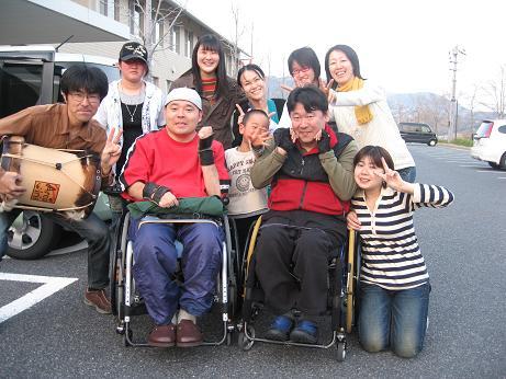 2008年4月、下松市での合同練習にて