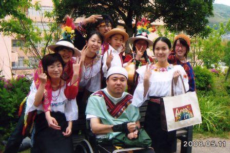 """""""2008年フェアトレードまつり""""にて"""
