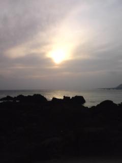 080317_白浜海岸の夕日