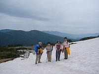 西吾妻の残雪