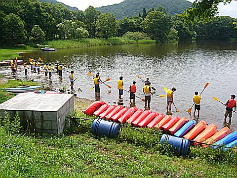 カヌーレクチャー・パドリングの練習