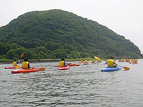 猪苗代湖のツーリング、翁島一周