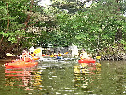 猪苗代湖の旧港跡の探検行