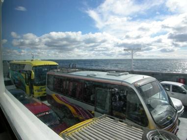 マゼラン海峡をフェリーで渡る
