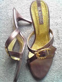 ブロンズ+ゴールド靴