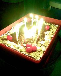 タイ語学校バースデーケーキ