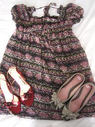 小花柄+靴2足