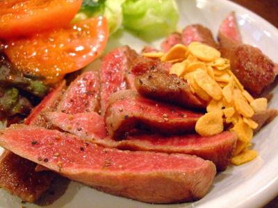 れぼ・イチボのステーキ