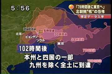 北の核到達時刻
