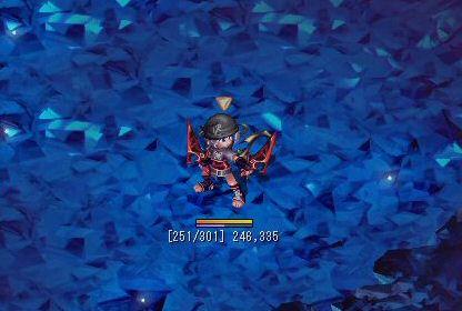 水晶洞窟でガリガリ狩してます(`・ω・´)