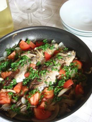 鯵の野菜焼き