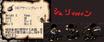 【アサシンブレード装備】